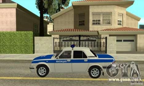 GAZ 31105 Volga DPS pour GTA San Andreas laissé vue
