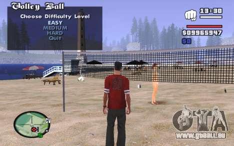 SA Volleyball pour GTA San Andreas deuxième écran