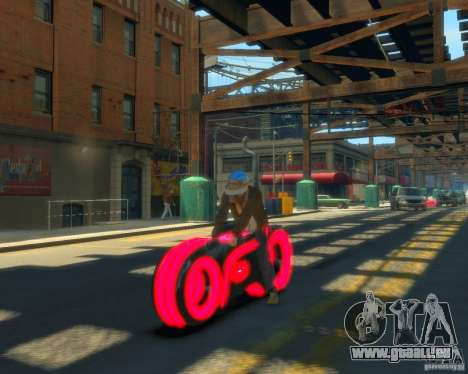 Motorrad des Throns (neonrot) für GTA 4