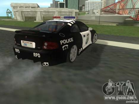Pontiac GTO Police pour GTA San Andreas sur la vue arrière gauche