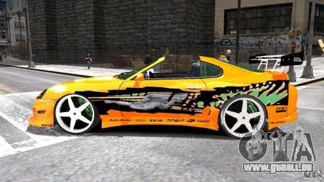 Toyota Supra Fast And Furious für GTA 4 linke Ansicht