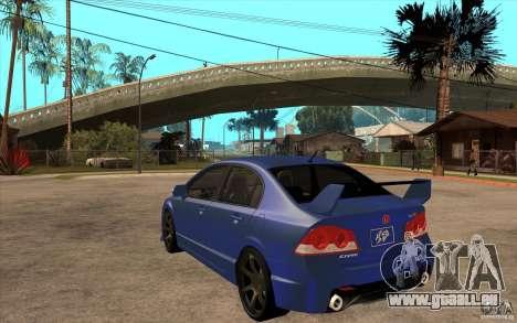 Honda Civic Mugen v1 pour GTA San Andreas sur la vue arrière gauche