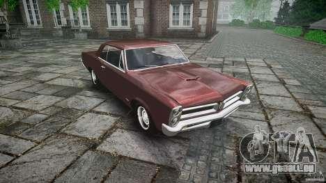 Pontiac GTO 1965 pour GTA 4 est une vue de dessous