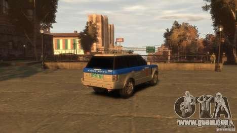 Land Rover Range Rover Police pour GTA 4 Vue arrière de la gauche