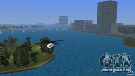 VCPD Chopper pour une vue GTA Vice City de la gauche