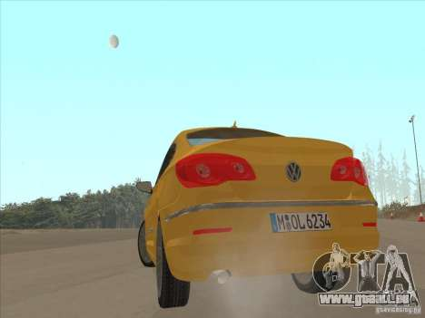 Volkswagen Passat CC pour GTA San Andreas sur la vue arrière gauche