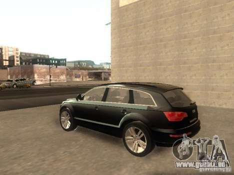 Audi Q7 TDI Stock für GTA San Andreas zurück linke Ansicht