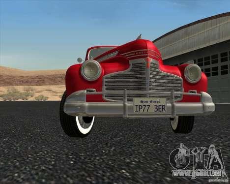 Chevrolet Special DeLuxe 1941 pour GTA San Andreas vue de dessus