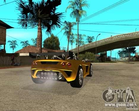 Lotus 2-Eleven pour GTA San Andreas sur la vue arrière gauche