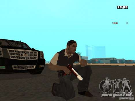 White Red Gun für GTA San Andreas zweiten Screenshot