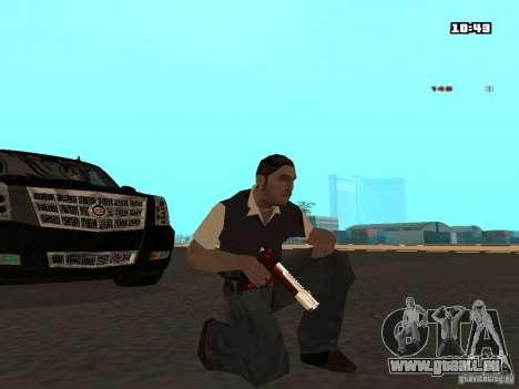 White Red Gun pour GTA San Andreas deuxième écran