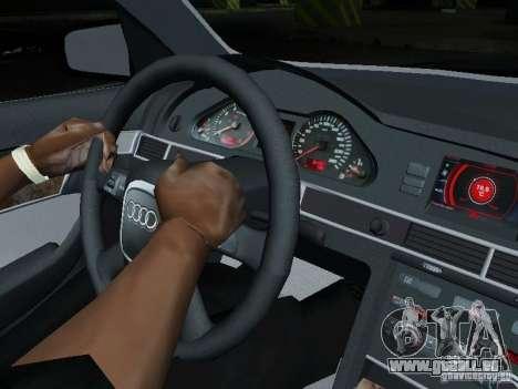 Audi A6 Police pour GTA San Andreas vue intérieure