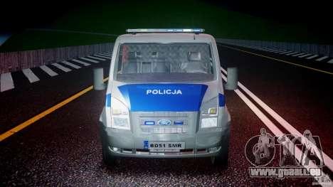 Ford Transit Polish Police [ELS] für GTA 4 obere Ansicht