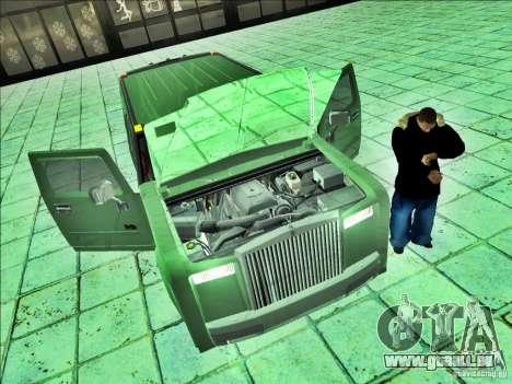 Hummer H2 Phantom pour GTA San Andreas sur la vue arrière gauche