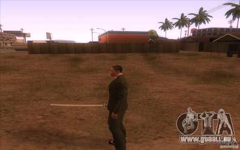 Katana pour GTA San Andreas troisième écran