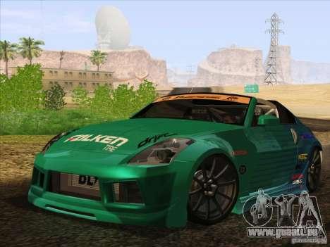 Nissan 350Z Falken Tire für GTA San Andreas