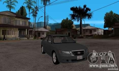 Hyundai Sonata 2008 hd für GTA San Andreas Rückansicht