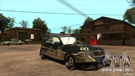 BMW 135i Coupe GP Edition Skin 3 pour GTA San Andreas vue arrière