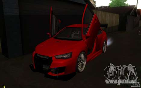 Mitsubishi Lancer EVO X drift Tune für GTA San Andreas Innenansicht