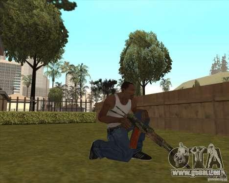 AK-74 mit der Textur von Metro 2033 für GTA San Andreas dritten Screenshot