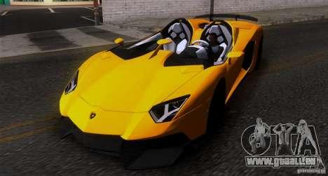 Lamborghini Aventador J TT Black Revel für GTA San Andreas