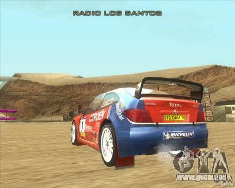 Citroen Xsara WRC pour GTA San Andreas sur la vue arrière gauche