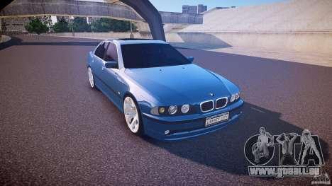 BMW 530I E39 e63 white wheels pour GTA 4 est une vue de l'intérieur