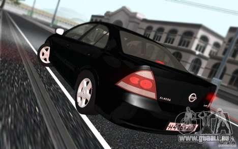 Nissan Almera Classic pour GTA San Andreas vue intérieure