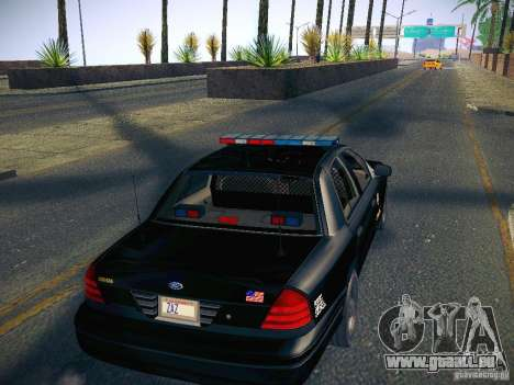 Ford Crown Victoria Police Intercopter pour GTA San Andreas vue intérieure