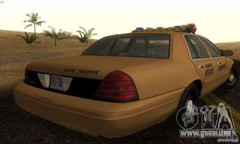 Ford Crown Victoria Kansas Police für GTA San Andreas linke Ansicht