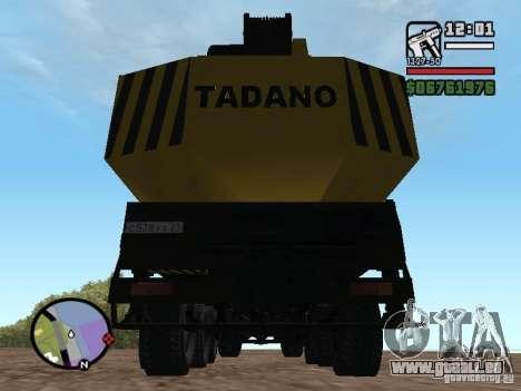 KrAZ-250 MKAT-40 für GTA San Andreas Innenansicht
