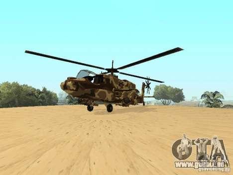 Nouvelles Textures pour le chasseur pour GTA San Andreas vue de droite