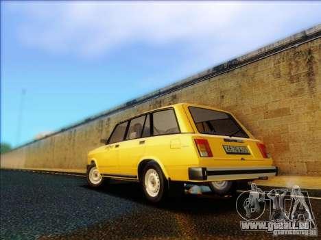VAZ 2104 Taxi für GTA San Andreas zurück linke Ansicht