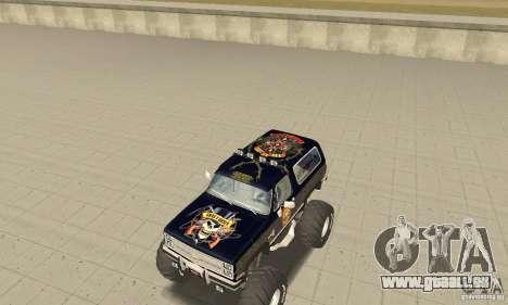 Chevrolet Blazer K5 Monster Skin 2 für GTA San Andreas linke Ansicht