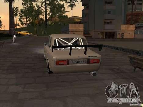 Style dérive de VAZ 2106 pour GTA San Andreas sur la vue arrière gauche