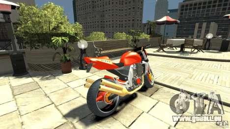 Kawasaki Z1000 pour GTA 4 Vue arrière de la gauche