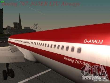Boeing 767-3G5ER LTU Airways pour GTA San Andreas vue arrière