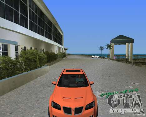 Pontiac G8 GXP pour une vue GTA Vice City de la droite