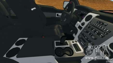 Ford F-150 SVT Raptor pour GTA 4 est une vue de dessous