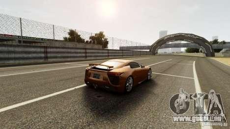 Lexus LF-A pour GTA 4 est une vue de l'intérieur