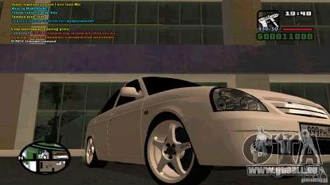 Lada Priora Tuning pour GTA San Andreas sur la vue arrière gauche