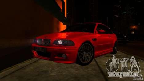 BMW M3 e46 pour GTA San Andreas vue de côté