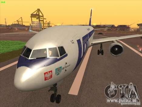 Boeing 767-300 LOT Polish Airlines für GTA San Andreas zurück linke Ansicht