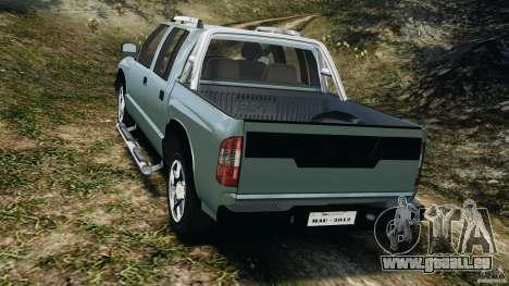 Chevrolet S-10 Colinas Cabine Dupla pour GTA 4 Vue arrière de la gauche