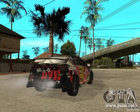 Mitsubishi Lancer EVO pour GTA San Andreas sur la vue arrière gauche