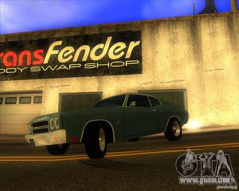 Chevy Chevelle SS stock 1970 pour GTA San Andreas laissé vue