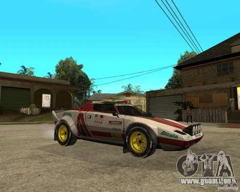 Lancia Stratos pour GTA San Andreas vue de droite