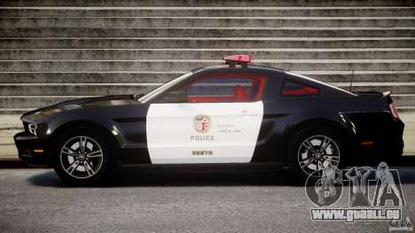 Ford Mustang V6 2010 Police v1.0 pour GTA 4 est une gauche