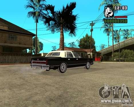 Lincoln Town Car 1986 für GTA San Andreas rechten Ansicht