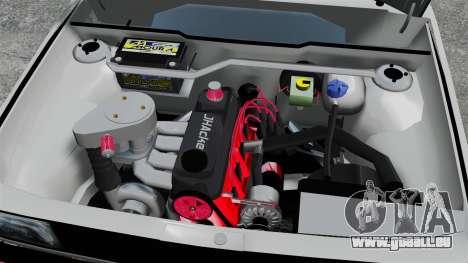 Volkswagen Saveiro 1990 Turbo pour GTA 4 est une vue de l'intérieur